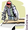 Vector Clipart graphic  of a construction worker