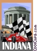 Vector Clipart illustration  of a Indiana postcard design