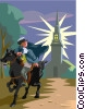 Paul Revere's ride Vector Clipart graphic