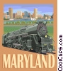 Vector Clipart image  of a State of Maryland