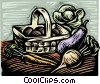 Vector Clip Art graphic  of a Vegetables in a basket