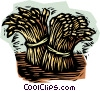 Vector Clip Art graphic  of a wheat sheaves