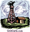 Vector Clipart graphic  of a oil well