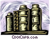 storage tanks Vector Clip Art graphic