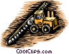 Farm equipment, fertilizing a crop Vector Clipart picture
