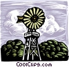Vector Clipart picture  of a Wind energy