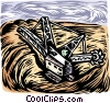 Vector Clipart illustration  of a mining equipment