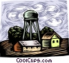 Vector Clipart image  of a Water tower