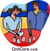 playing cards Vector Clipart picture