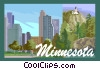 Vector Clipart graphic  of a State of Minnesota