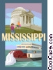 State of Mississippi Vector Clipart illustration