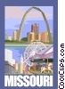 State of Missouri Vector Clip Art picture