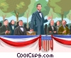 Vector Clipart graphic  of a Gettysburg Address Abraham