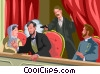 Assassination of Lincoln by John Wilkes Booth Vector Clipart illustration