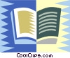 Vector Clip Art image  of a book design
