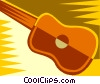 Vector Clip Art image  of a guitar design