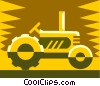 Vector Clipart graphic  of a tractor design