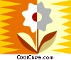 flower design Vector Clipart illustration