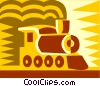 Vector Clip Art graphic  of a locomotive design