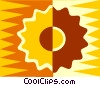 industrial gear design Vector Clipart illustration