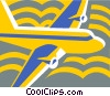 Vector Clipart graphic  of an airplane design