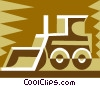 Vector Clip Art picture  of a construction equipment design