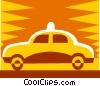 taxi design Vector Clipart illustration