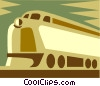 Vector Clip Art image  of a locomotive design