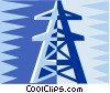 hydro tower design Vector Clipart picture