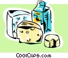 Vector Clipart picture  of a dairy products