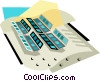 Vector Clip Art image  of an audio visual industry