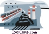 industry, coal production Vector Clipart illustration