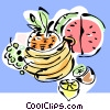 Vector Clipart picture  of a fresh fruits