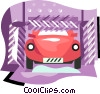 Vector Clip Art graphic  of a transportation