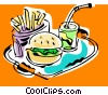 fast foods Vector Clipart graphic