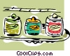 Vector Clipart illustration  of a condiments