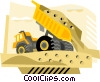 Industry, dump truck Vector Clip Art graphic