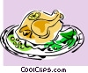 roast turkey Vector Clip Art image