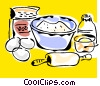 baking ingredients Vector Clipart illustration