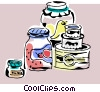 Vector Clip Art image  of a canned preserves