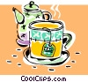 Vector Clip Art picture  of a cup of tea