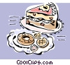 Vector Clipart graphic  of a Cakes and donuts