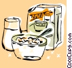 Vector Clipart graphic  of a breakfast cereal