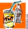 Vector Clipart image  of a soda