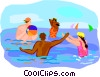 summer sports, swimming Vector Clip Art image