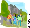 Vector Clip Art picture  of a hiking