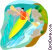 Vector Clipart image  of a water sports