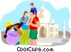 travel videos Vector Clipart illustration