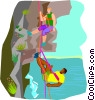 rock climbing Vector Clip Art picture