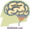 business concepts, human brain Vector Clip Art image